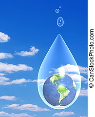 Preservation of stocks of water in the nature