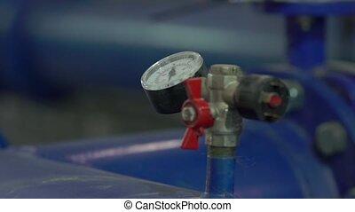 Water Pressure Meter - Water pressure meter equipment at the...