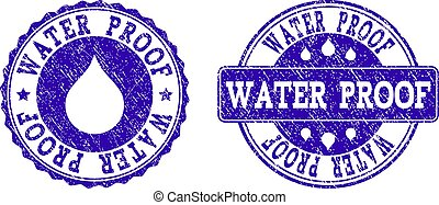 Water Proof Grunge Stamp Seals