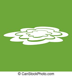 Water puddle icon green