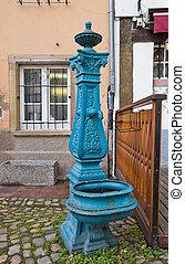 water-pump, 古い, ストラスブール, 手