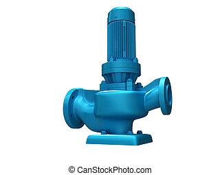water pump - digital illustration of a water pump in digital...