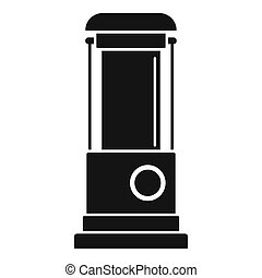 Water pump icon, simple style