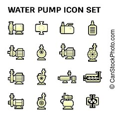 Water Pump Icon - Vector icon of electric water pump and ...