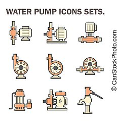 Water pump icons