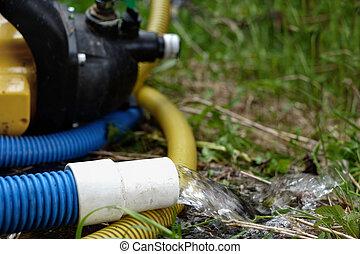 Water Pump In A Garden