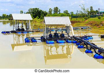 water Pump in river