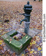 Water pump in the park