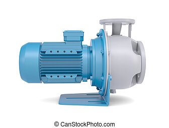 Water pump motor. Isolated render on a white background