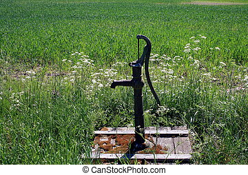 Water pump - An old water pump that was common in the old...