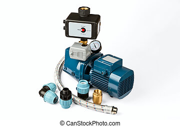 water pump isolated on a white background