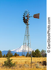 Water Pump Windmill in Central Oregon Farm