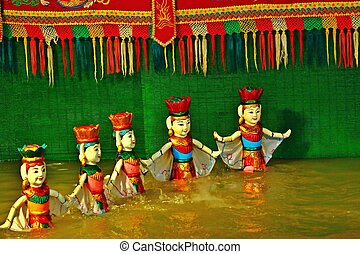 Water puppet show in vietnam