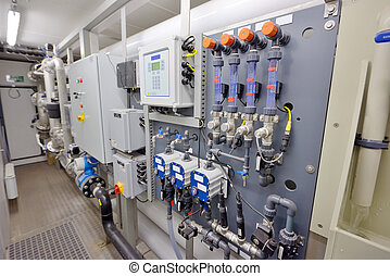 Water purification filter equipment in plant