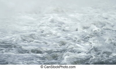 Water Rapids - Turbulent water of large river rapids