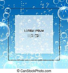 water, realistisch, duidelijk, poster