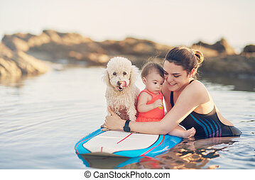 Water recreation theme for young family