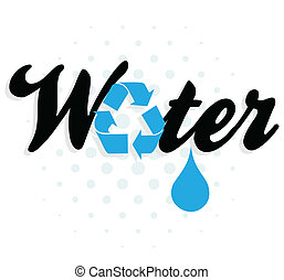 water, recycling, grafisch