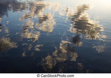 Water reflecting clouds
