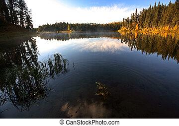 Water reflection at Jade Lake in Northern Saskatchewan