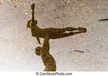 Water Reflection Ballet Dancers