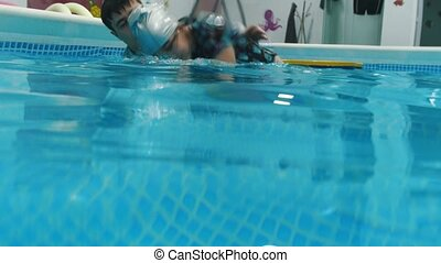 water, rehabilitatie, procedure, met kind, met, cerebraal,...