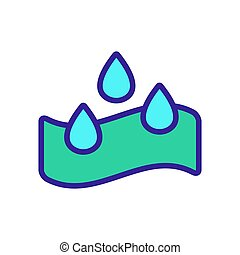 water-repellent vector icon. Isolated contour symbol ...