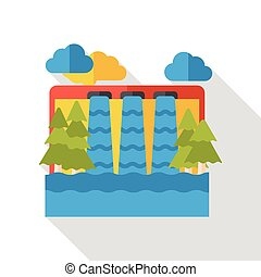 water reservoir flat icon