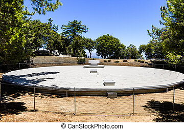Water reservoir on top of Mt Wilson, on the grounds of the Observatory complex, San Gabriel mountains, Los Angels county, California