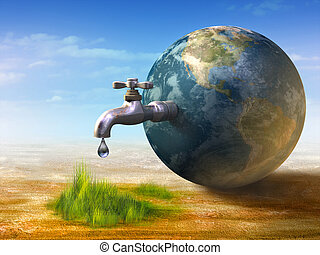 Water resource - Earth water resources generating new life. ...