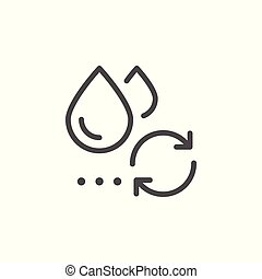 Water reuse line icon