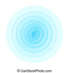 Water Ripple - Abstract Vintage Blue Ripple Effect Vector...