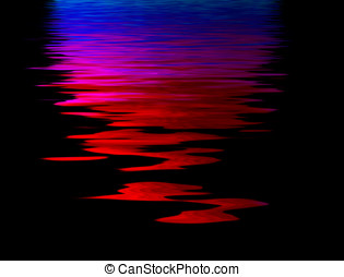Water ripples - Colorful abstract illustration with water...