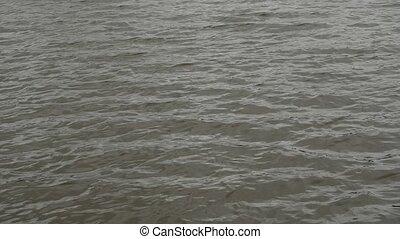 Water ripples surface. - Lake water wavy surface, water...