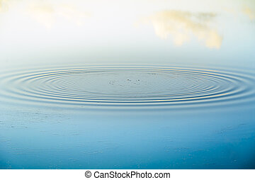 Water ripples - Water rippling outwards from a pebble ...