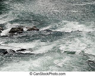 water, rivier, groene