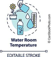 Water room temperature concept icon. Appropriate temp ...