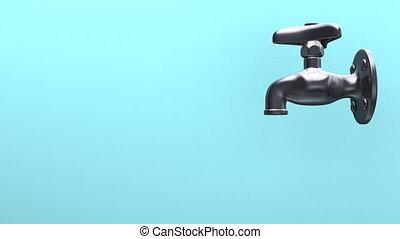 water, ruimte, blauwe , tekst, kraan