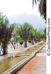 water running canals Avenue Avenida Jimenez Parque Park of the Periodistas writers Candelaria Bogota Colombia South America