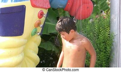 Water saving - Child Turning Off tap water