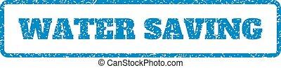 Water Saving Rubber Stamp