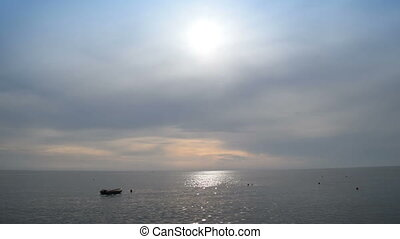 water, scheepje, kalm, zee