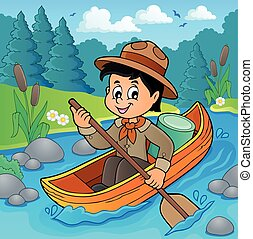 Water scout boy theme image 2 - Water scout boy theme image...