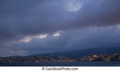 Water sea city cloud landscape