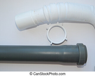 Water, sewer pipes and adapters of different diameters