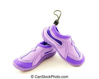 Water shoes, purple, for girls, made for walking in water