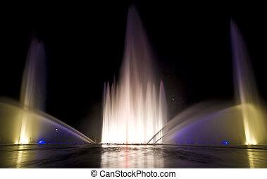 Water show - beautiful show with fountains and music in...