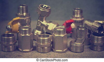 Water shutoff and connecting shutoff valves for water supply...