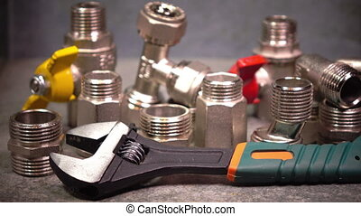 Water shutoff valves and metalwork adjustable wrench,