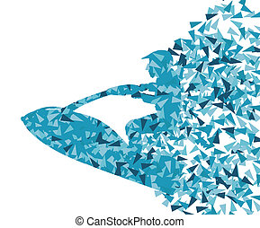 Water ski jet bike vector abstract background concept